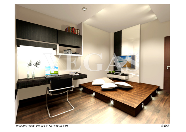3D Study Room Interior Design Singapore | 3D Study Room Interior