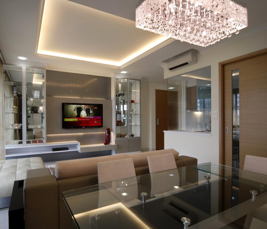 Infiniti Condo Living Room View Vegas Interior Design